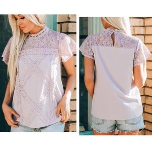 Geo Lace Top